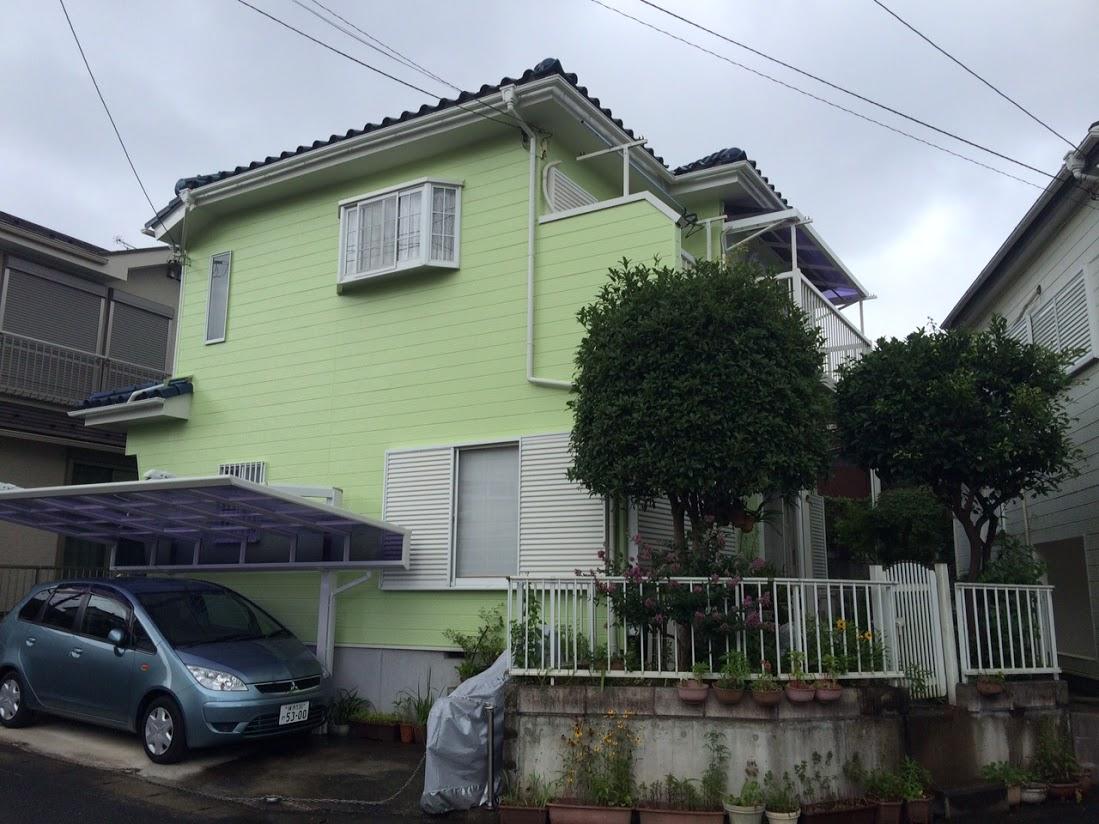 お客様の声|塗装7年で塗膜剥離したお宅の外壁塗装 神奈川県横浜市のK.N様邸施工後