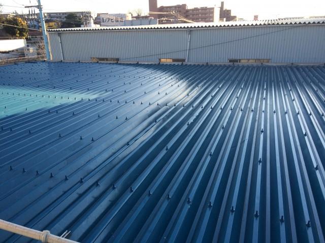 お客様の声|雨漏り 工場屋根の雨漏り修理 横浜市(有)昭和精機 竹内 様施工後