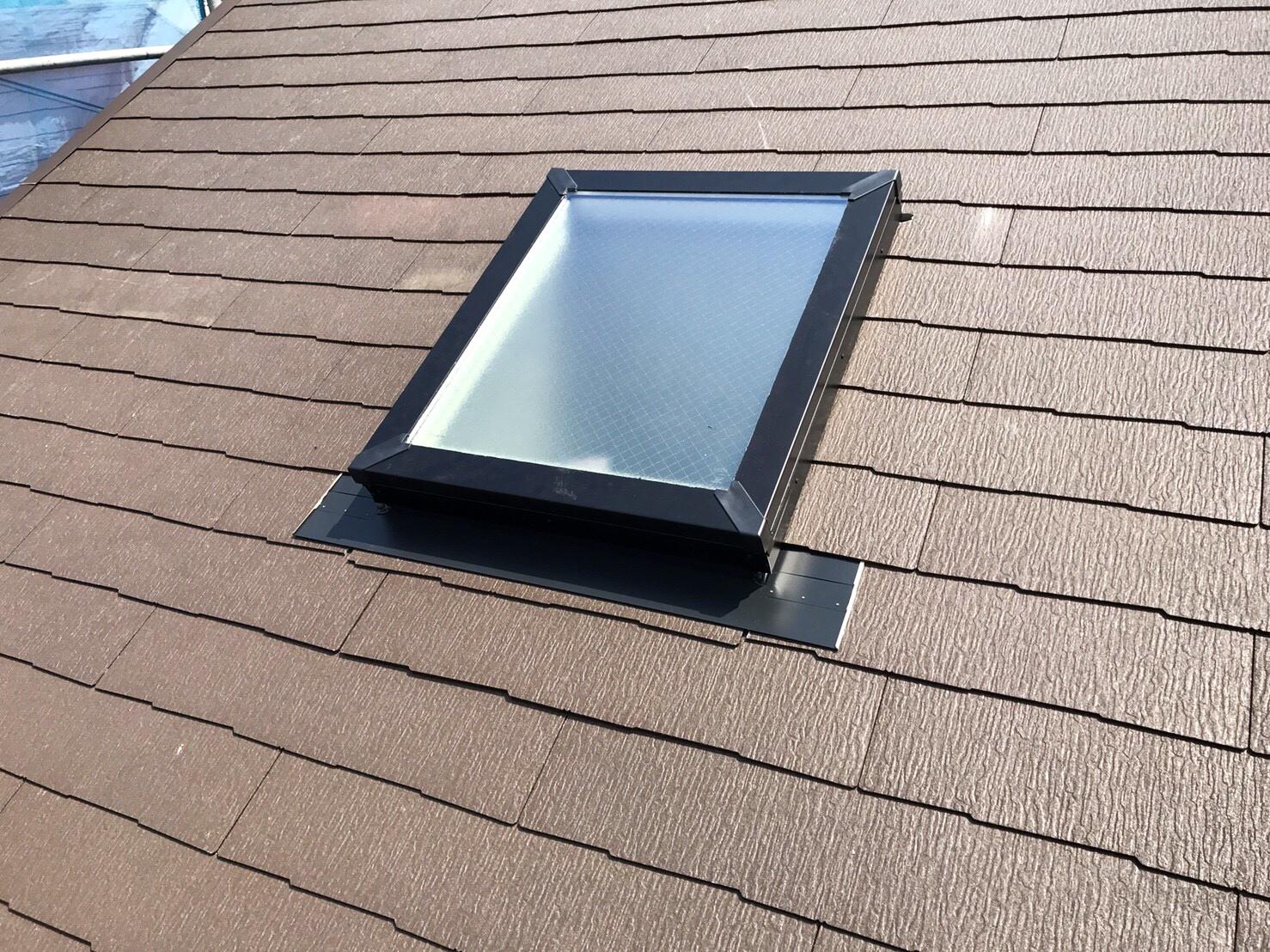 天窓の木部劣化による屋根修理施工後