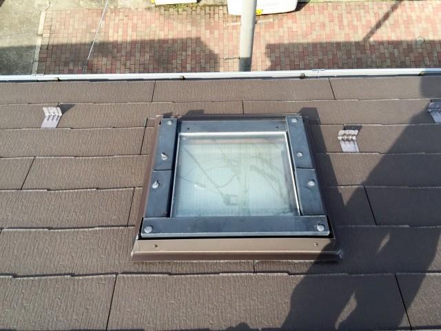 天窓の木部劣化による屋根修理施工前