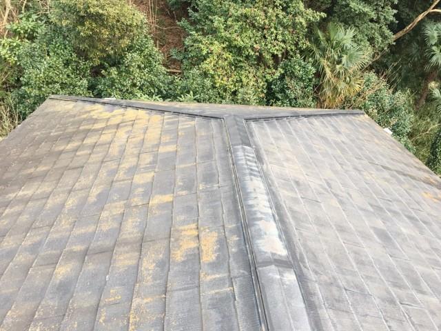 強風による棟破損で保険対応雨漏り屋根工事施工前