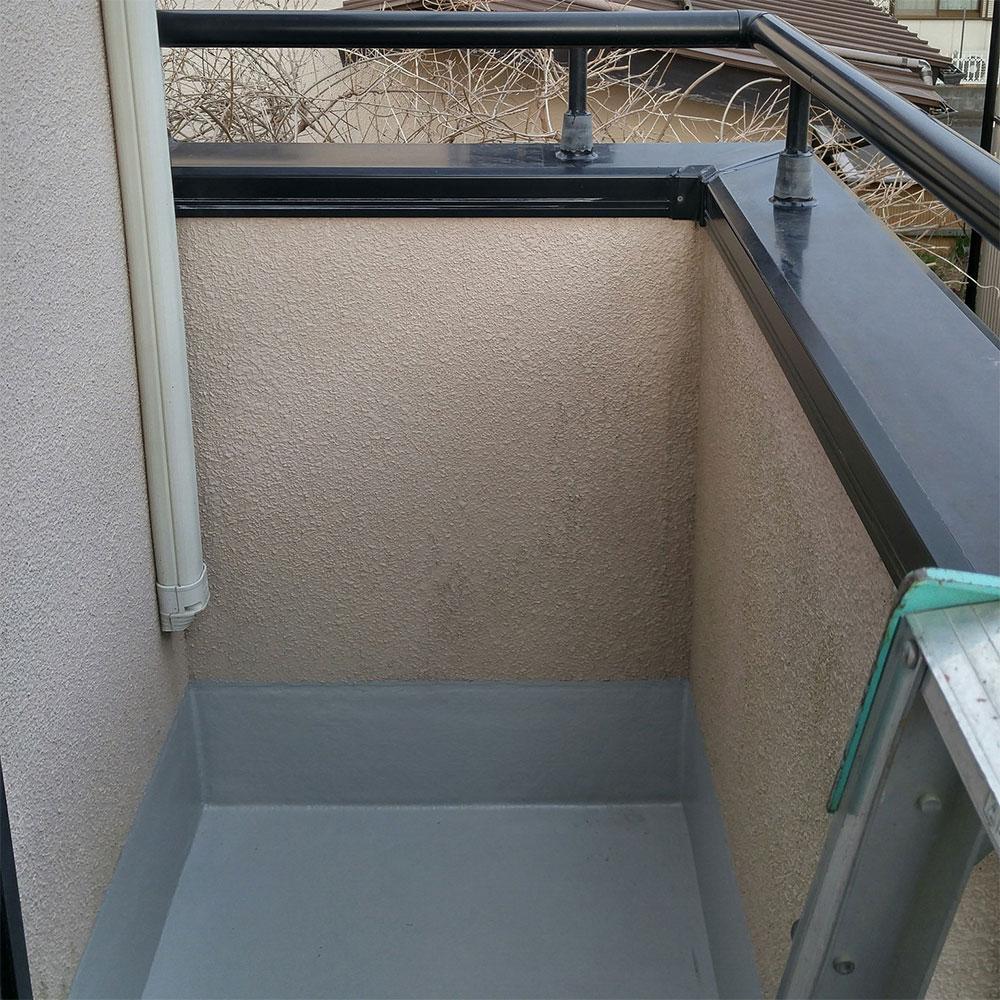 ベランダシーリング劣化による雨漏り防水工事施工後